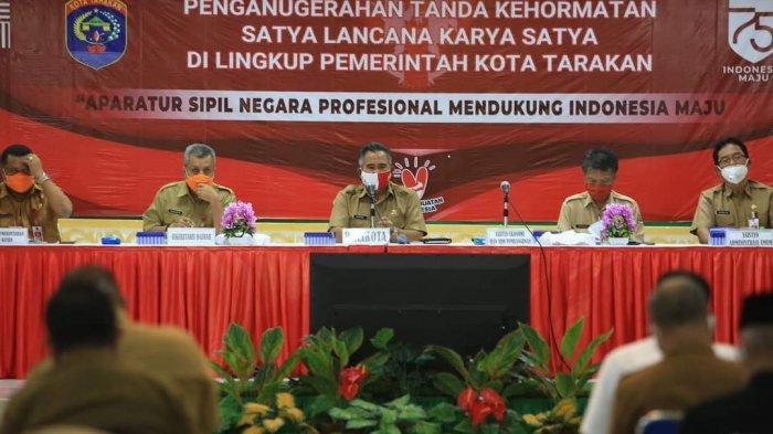 825 ASN Pemkot Tarakan Dapat Satyalancana Karya Satya, Walikota Ingatkan Selalu Jaga Integritas