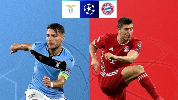 Siaran Langsung Liga Champions Malam Ini, Lazio vs Bayern Muenchen, Live SCTV & Streaming Vidio.com