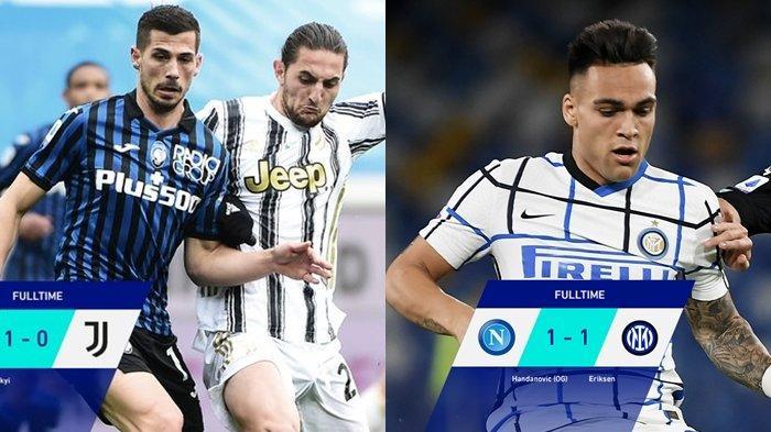 Klasemen & Top Skor Liga Italia, Inter Tak Terkejar Walau Gagal Menang, Juventus Keluar dari 3 Besar