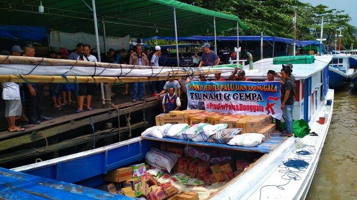 Keluarga jadi Korban Gempa di Palu, Buruh dan PKL Pelabuhan di Samarinda Kirim 10 Ton Barang