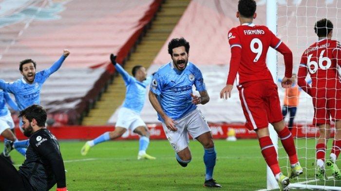 Hasil Liga Inggris, Liverpool vs Man City, Anfield Tak Lagi Angker, Kutukan 18 Tahun Berakhir
