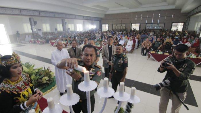 Kodam VI Mulawarman Rayakan Natal Bersama, Pesan Pangdam Prajurit Mesti Kerja Ikhlas Beri Inspirasi