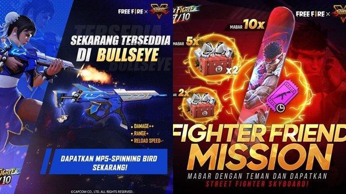 UPDATE Kode Redeem FF 8 Juli 2021: Klaim Sekarang, Dapatkan Skyboard & Skin Senjata Street Fighter