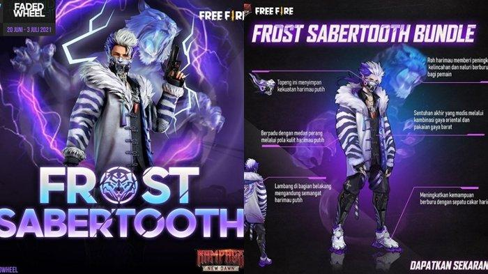 UPDATE Kode Redeem FF 21 Juni 2021: Klaim Sekarang dan Dapatkan Karakter Frost Sabertooth, Gratis