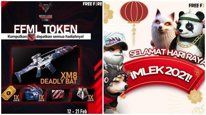 Kode Redeem FF 12 Februari 2021, Dapatkan Gun Skin Permanen XM8 - Deadly Bat, Free Fire Edisi Imlek