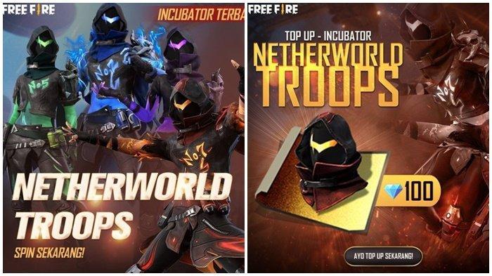 Kode Redeem FF 17 Februari 2021, Buruan Klaim, Cek Bundle Terbaru di Incubator, Netherworld Troops