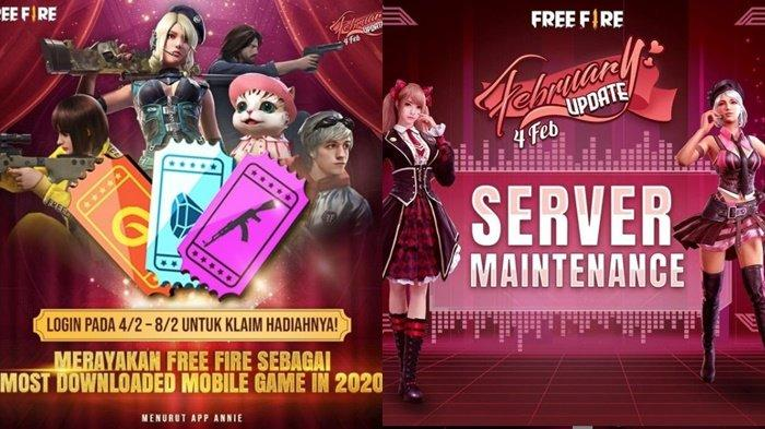 Kode Redeem FF 4 Februari 2021, Login Free Fire Klaim Hadiah Most Downloaded, Ada SG 2 Incubator?