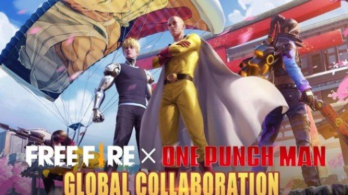 Kode Redeem Free Fire Spesial Natal 25 Desember 2020, Kolaborasi Global Free Fire x One Punch Man