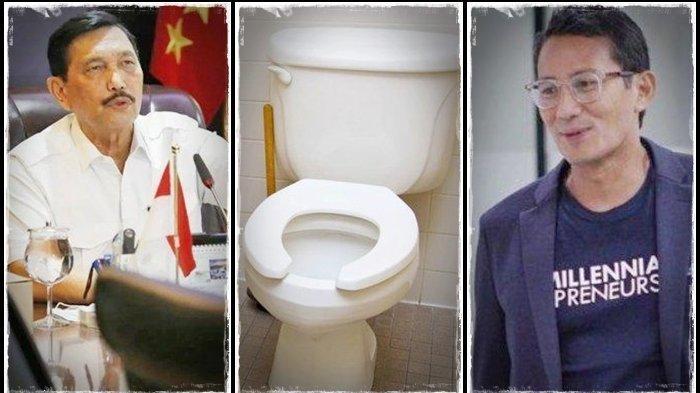 Kolaborasi Menteri Jokowi, Luhut Binsar Bantu Sandiaga Uno Buat Toilet, Pakai Perusahaan Luar Negeri