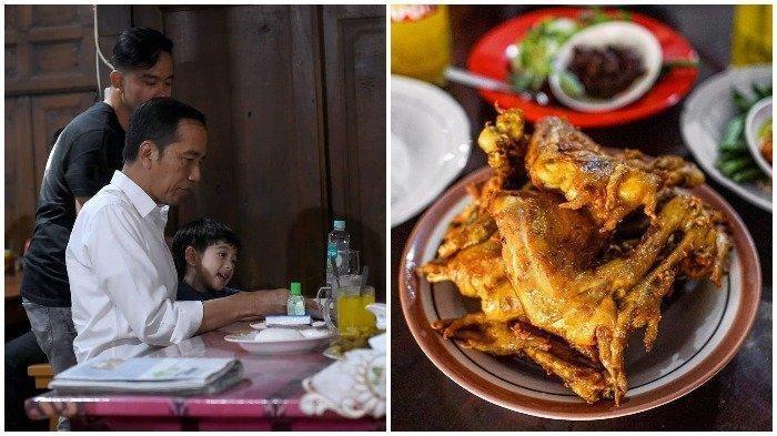Jelang Kabinet Jokowi Jilid 2, Makanan Kesukaan 7 Presiden RI, Ayam Goreng Mbah Karto Favorit Jokowi