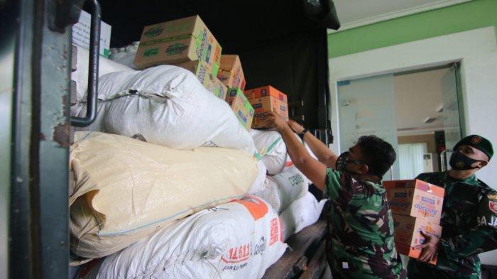 Kodim 0905 Balikpapan Salurkan Bantuan Korban Bencana Banjir di Kalimantan Selatan