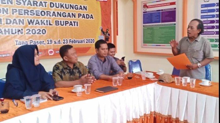 KPU Paser Tolak Syarat Dukungan Bapaslon Herman-Nor Asiah, 1.885 Dokumen Dukungan Tidak Lengkap