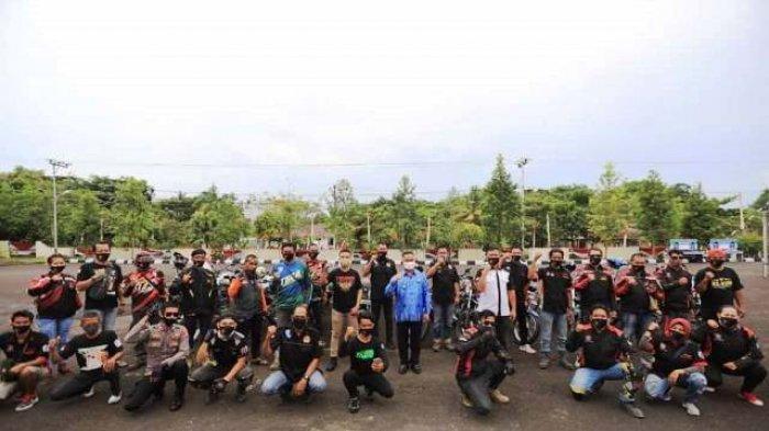 Silaturahmi dengan Komunitas Motor, Walikota Khairul Ingatkan Terapkan Protokol Kesehatan