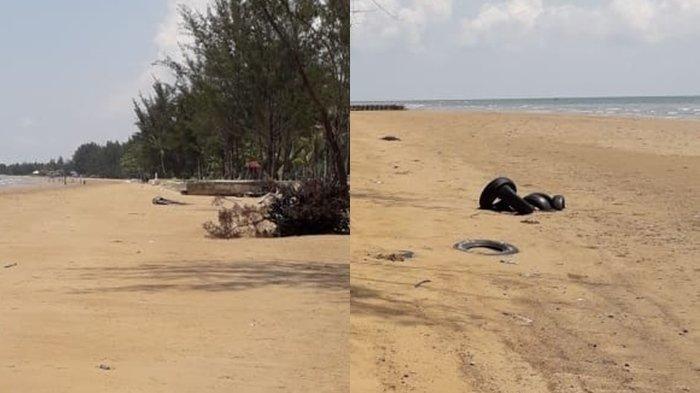 Sempat Tercemar Limbah Hitam, Hari Ini Tumpahan Minyak di Pantai Manggar Balikpapan Sudah Hilang