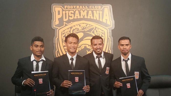 Pemain Muda Borneo FC Aldjufri, Zulfikri, dan Ilhamsyah Sepakat Perpanjang Kontrak, Ini Harapannya