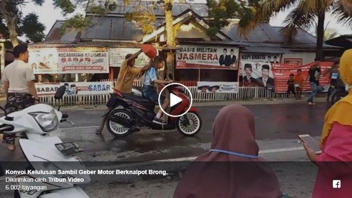Konvoi Kelulusan di Jalan Raya, Siswa SMA Ini Disiram Air Comberan oleh Warga
