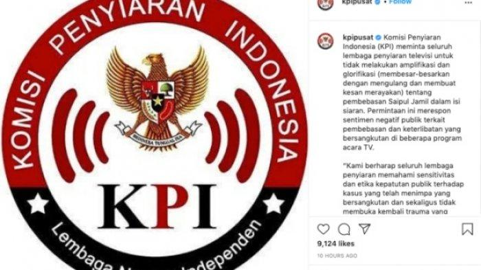 KPI beri peringatan tv yang undang Saipul Jamil
