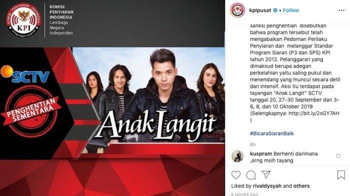 KPI Hentikan Tayangan Anak Langit SCTV, Sinetron Stefan William Ini tak Sesuai Klasifikasi Remaja