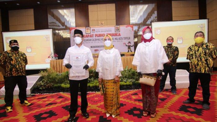 Sah, KPU Balikpapan Tetapkan Rahmad Masud-Thohari Aziz Paslon Terpilih Pilkada 2020