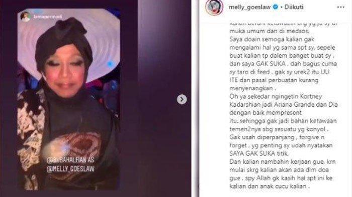 Kronologi Melly Goeslaw Murka pada Bubah Alfian di Instagram, Vidi Aldiano dan Rossa Ikut Minta Maaf