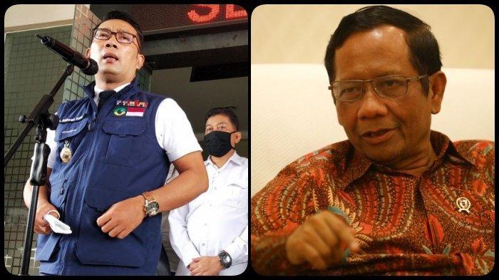 KRONOLOGI Ridwan Kamil dan Mahfud MD Berbalas Cuitan di Twitter soal Kerumunan Massa Rizieq Shihab