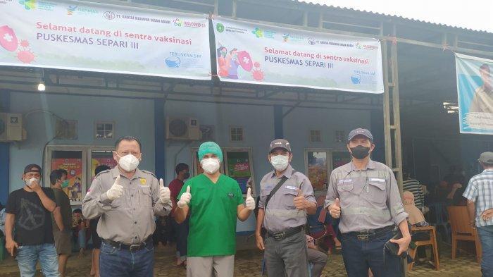 BBE Group Salurkan 1.000 Dosis Vaksin Lanjutan di Puskesmas Separi III dan Teluk Dalam Kukar