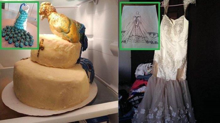 Kisah Viral, Pengantin Malu Padahal Bayar Mahal, Hasil Gaun hingga Kue Menyakitkan, Foto Juga Blur