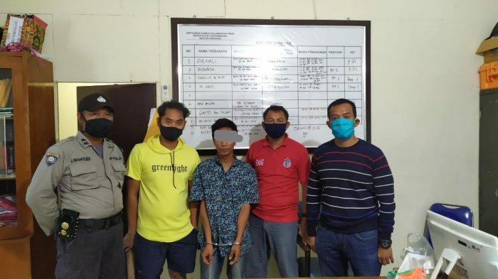 Diperiksa Polisi Posko Operasi Ketupat di Anggana Kukar, Aco Buang Bungkus Rokok, Isinya Sabu-sabu