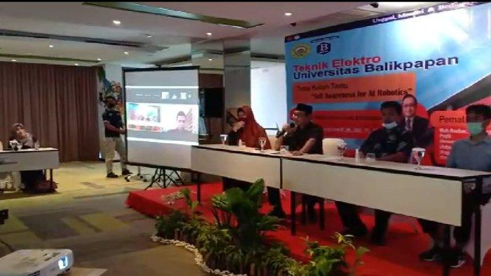 Program Studi (Prodi) Teknik Elektro Universitas Balikpapan melaksanakan kuliah umum dan workshop penulisan ilmiah, Rabu (17/3).