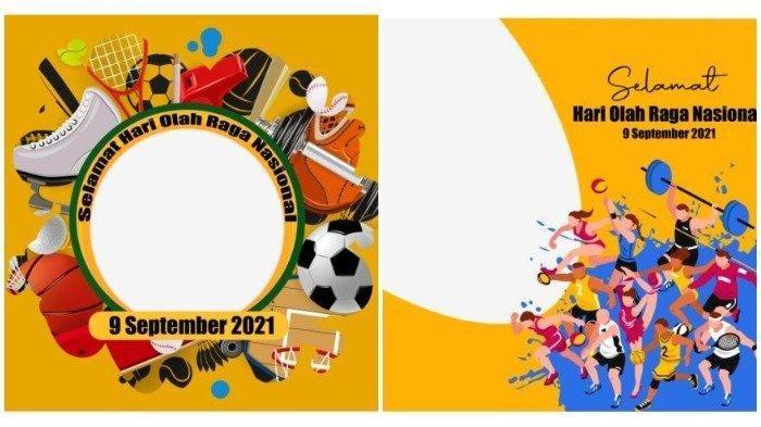 SESUAI TEMA Covid-19, Inilah 60 Link Twibbon Hari Olahraga Nasional 2021 dan Ucapan Haornas 2021