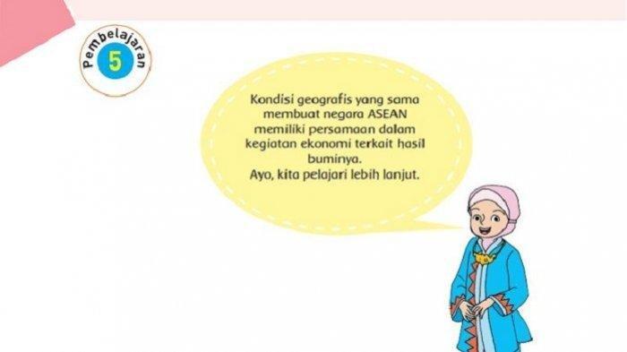 LENGKAP Kunci Jawaban Tema 1 Kelas 6 Halaman 100 tentang Negara di Kawasan di Asia Tenggara (ASEAN)