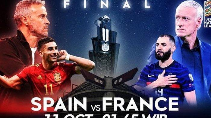 Link Live Streaming Final UEFA Nations League 2021, Spanyol vs Prancis Simak Prediksi Susunan Pemain