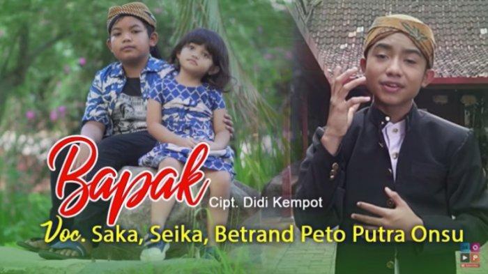 Lagu Anak Didi Kempot, Saka dan Seika Featuring Betrand Peto Dirilis Hari Ini, Yan Vellia Bangga