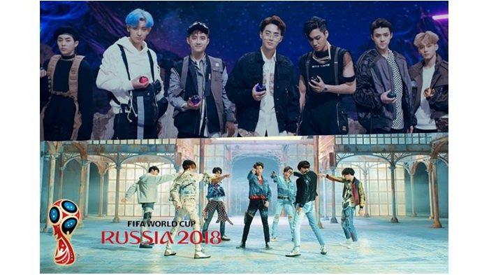 Lagu 'Power' EXO dan 'Fake Love' BTS Akan Diputar di Stadion Piala Dunia 2018