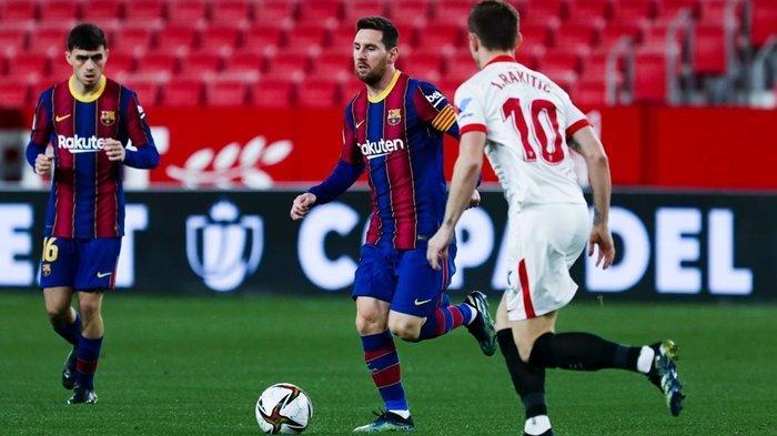 Hasil Copa del Rey: Sevilla vs Barcelona, Messi Cs Tumpul, Rakitic Kunci Kemenangan Los Nervionenses