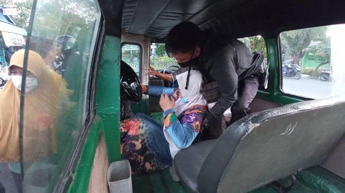 Kecelakaan Lalu Lintas Sesama Motor di Taman Makam Pahlawan Balikpapan, Korban Wanita Tersungkur