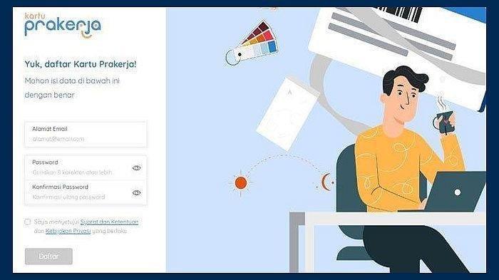 Tips Bila Selalu Gagal! Cara Masuk www.prakerja.go.id buat Daftar Kartu Prakerja Gelombang 12 Online