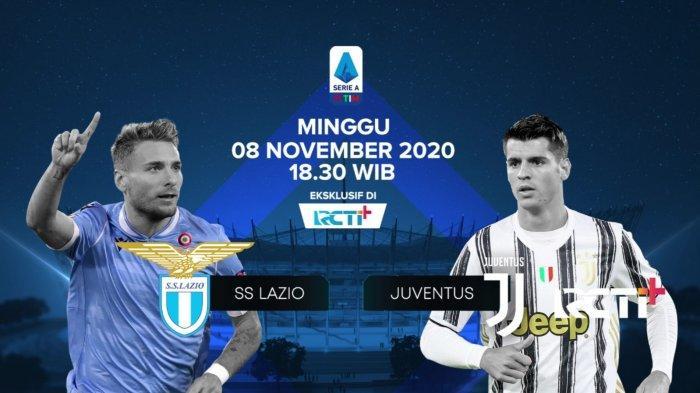 Siaran Langsung Liga Italia Big Match Lazio Vs Juventus Link Live Streaming Rcti Plus Gratis Tribun Kaltim