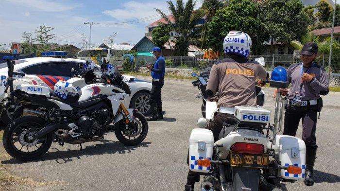 Ditlantas Polda Kaltara Latihan Safety Riding dan Driving di Tanjung Selor