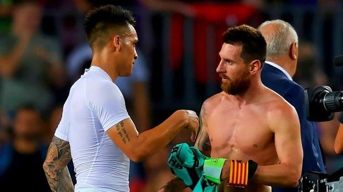 Waspada Inter Milan, Barcelona Serius Inginkan Lautaro Martinez Jadi Pendamping Lionel Messi