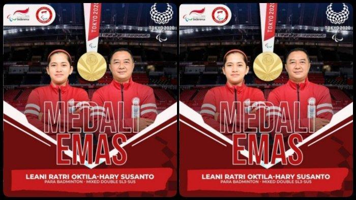 Leani Ratri Raih Medali Emas Kedua Paralimpiade Tokyo 2020, Bersama Hary Susanto Kalahkan Perancis
