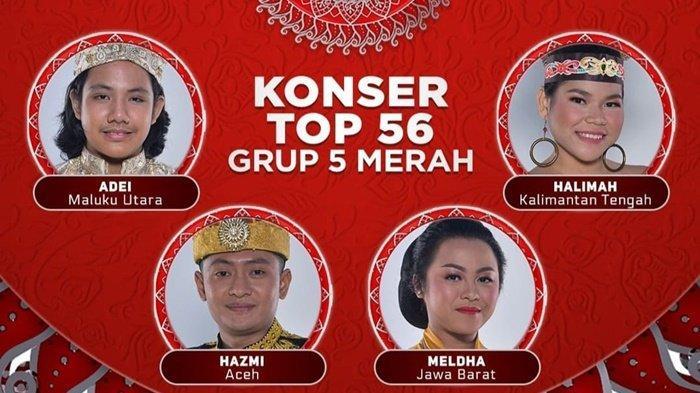 Hasil LIDA 2021 Top 56 Grup 5 Merah, Siapa Tersenggol Tadi Malam? Halimah dan Adei Tak Dapat SO