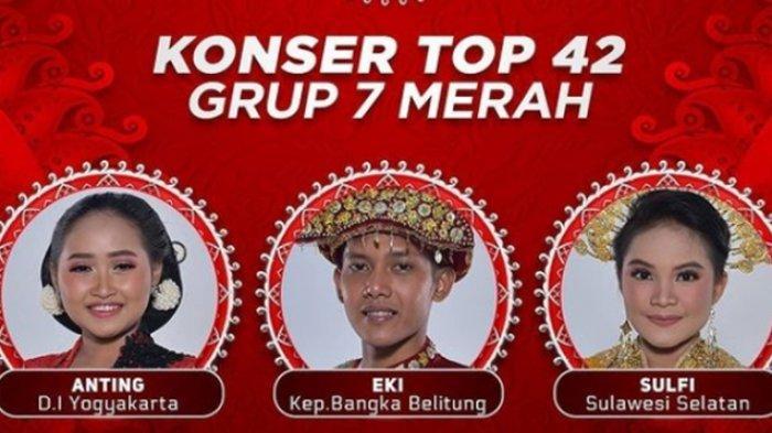 Siapa yang Tersenggol Malam Ini 5 Mei 2021? LIDA 2021 Top 42 Grup 7 Merah, Live Streaming Indosiar