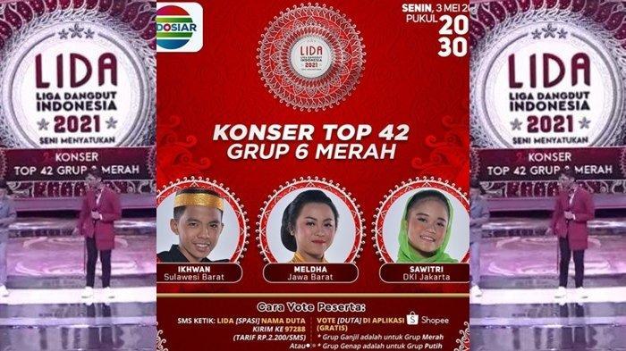 Siapa yang Tersenggol Malam Ini 3 Mei 2021? LIDA 2021 Top 42 Grup 6 Merah, Live Streaming Indosiar