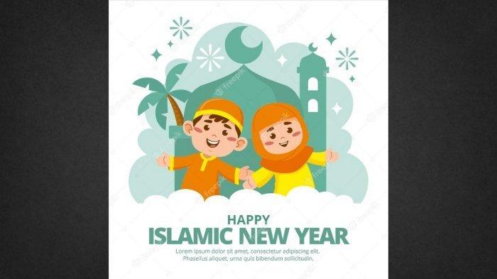 Link & Cara Buat Twibbon Ucapan Selamat Tahun Baru Islam 1 Muharram 1443 H / Selasa 10 Agustus 2021