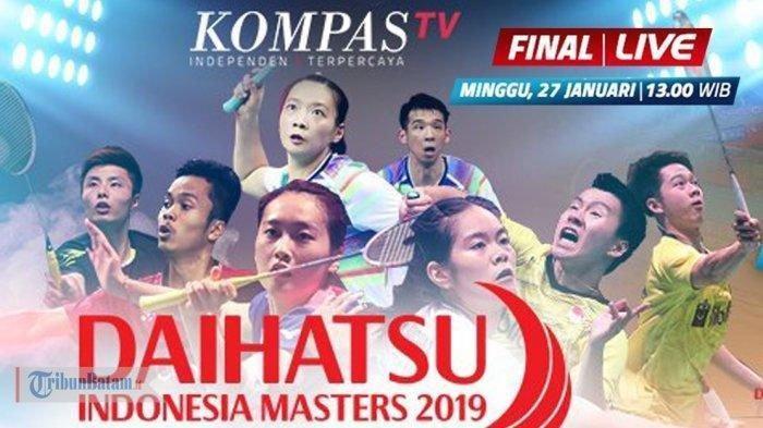 Sedang Tayang - Live Streaming Final Indonesia Masters 2019, Marcus/Kevin Vs Ahsan/Hendra