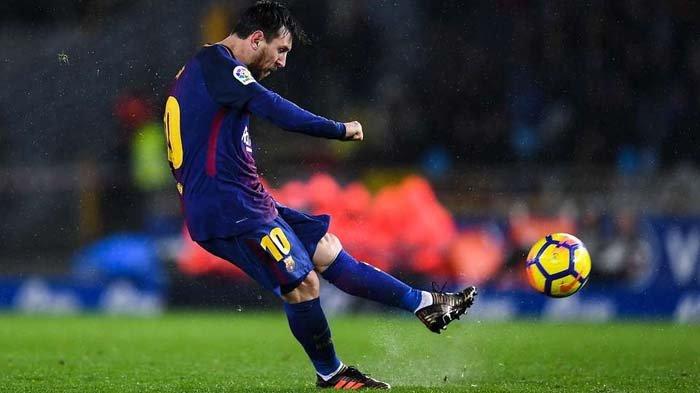 VIDEO Gol Free-kick Jarak Jauh Ini Bukti Lionel Messi Pemain Kelas Dewa!