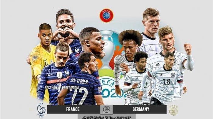 Jerman vs Prancis, Live Streaming Euro 2020, Siaran Langsung RCTI dan Mola TV