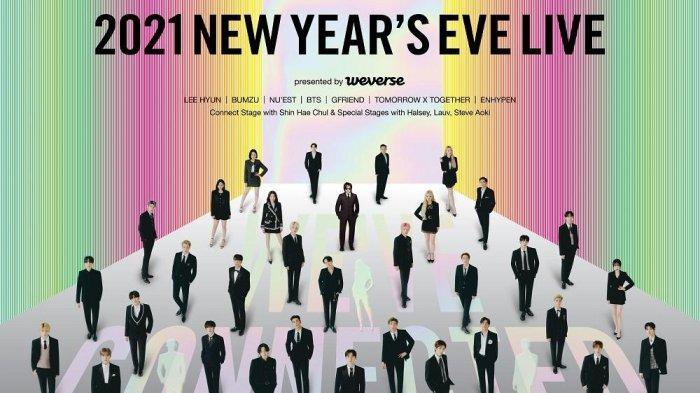 LIVE STREAMING Konser Malam Tahun Baru 2021 Big Hits Label, Ada BTS TXT GFRIEND dll, Pukul 19.30 WIB