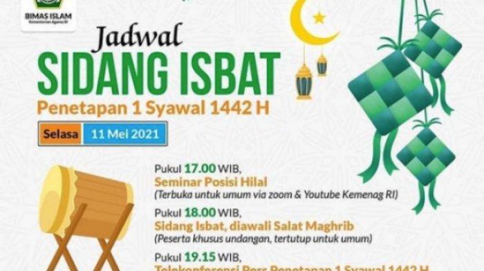 LIVE STREAMING Sidang Isbat Hari Ini, Penetapan 1 Syawal 1422 H, Live TVRI, YouTube & Medsos Kemenag